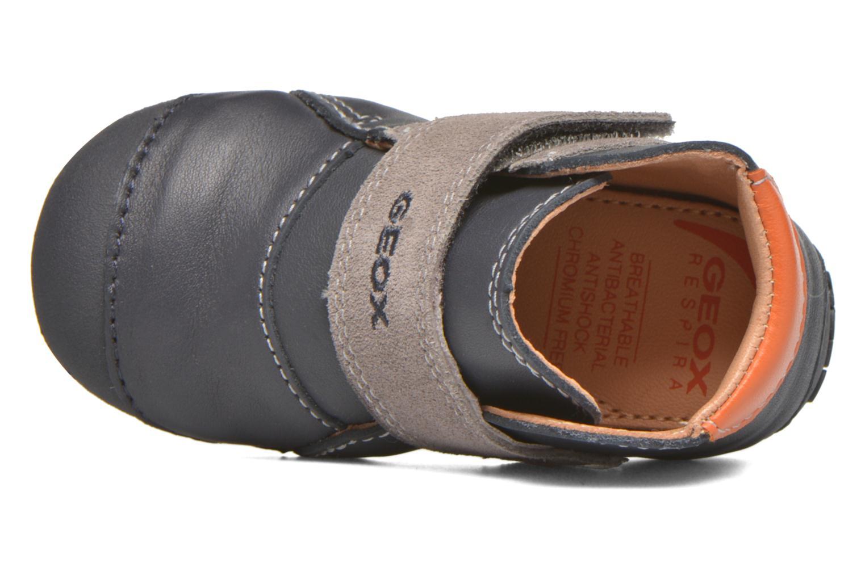 Chaussures à scratch Geox B Tutim B5439A Bleu vue gauche