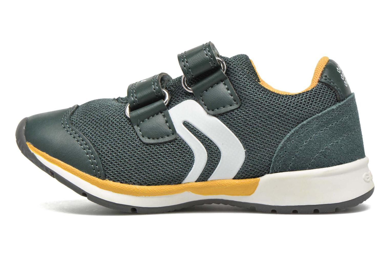 Sneaker Geox B Teppei Boy B54S9C grün ansicht von vorne