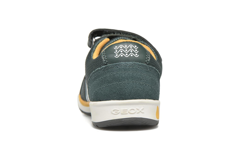 Sneaker Geox B Teppei Boy B54S9C grün ansicht von rechts