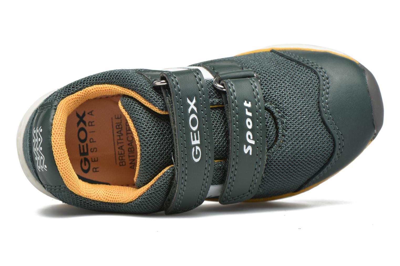 Sneaker Geox B Teppei Boy B54S9C grün ansicht von links