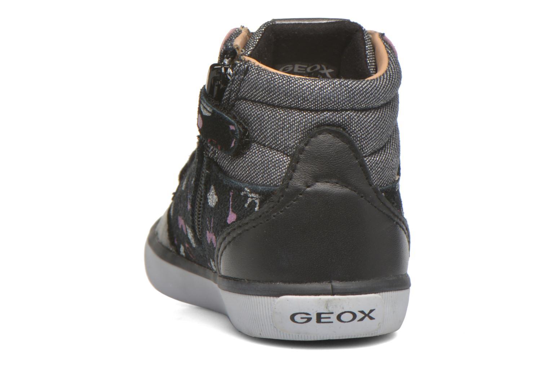 Baskets Geox B Kiwi Girl B54D5F Noir vue droite