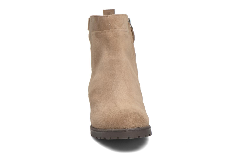 Stiefeletten & Boots Geox Donna Natalie D54U2C beige schuhe getragen