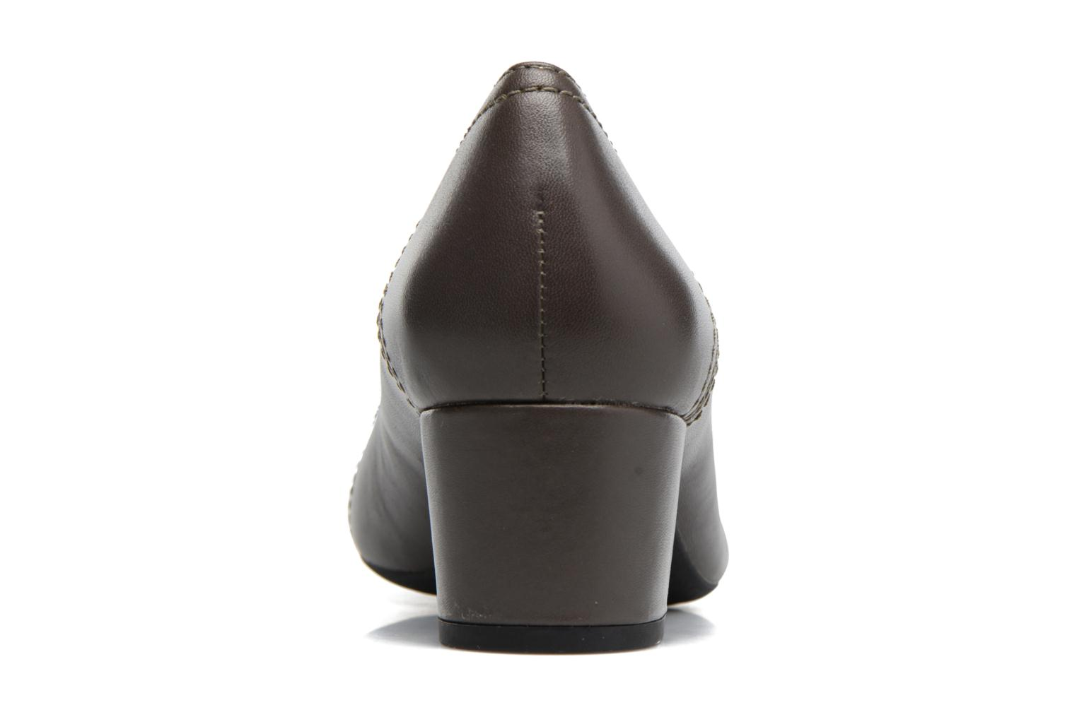 High heels Geox D Brianna D44M1C Grey view from the right