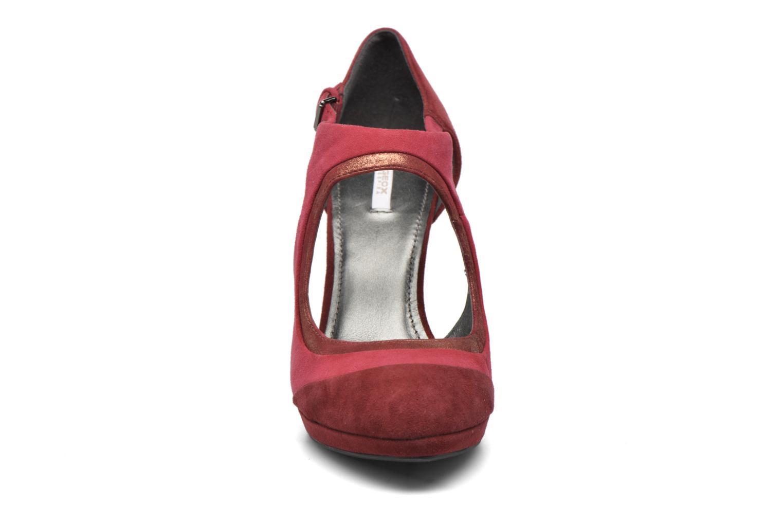 Escarpins Geox D Mariele Plat H D34W8C Bordeaux vue portées chaussures