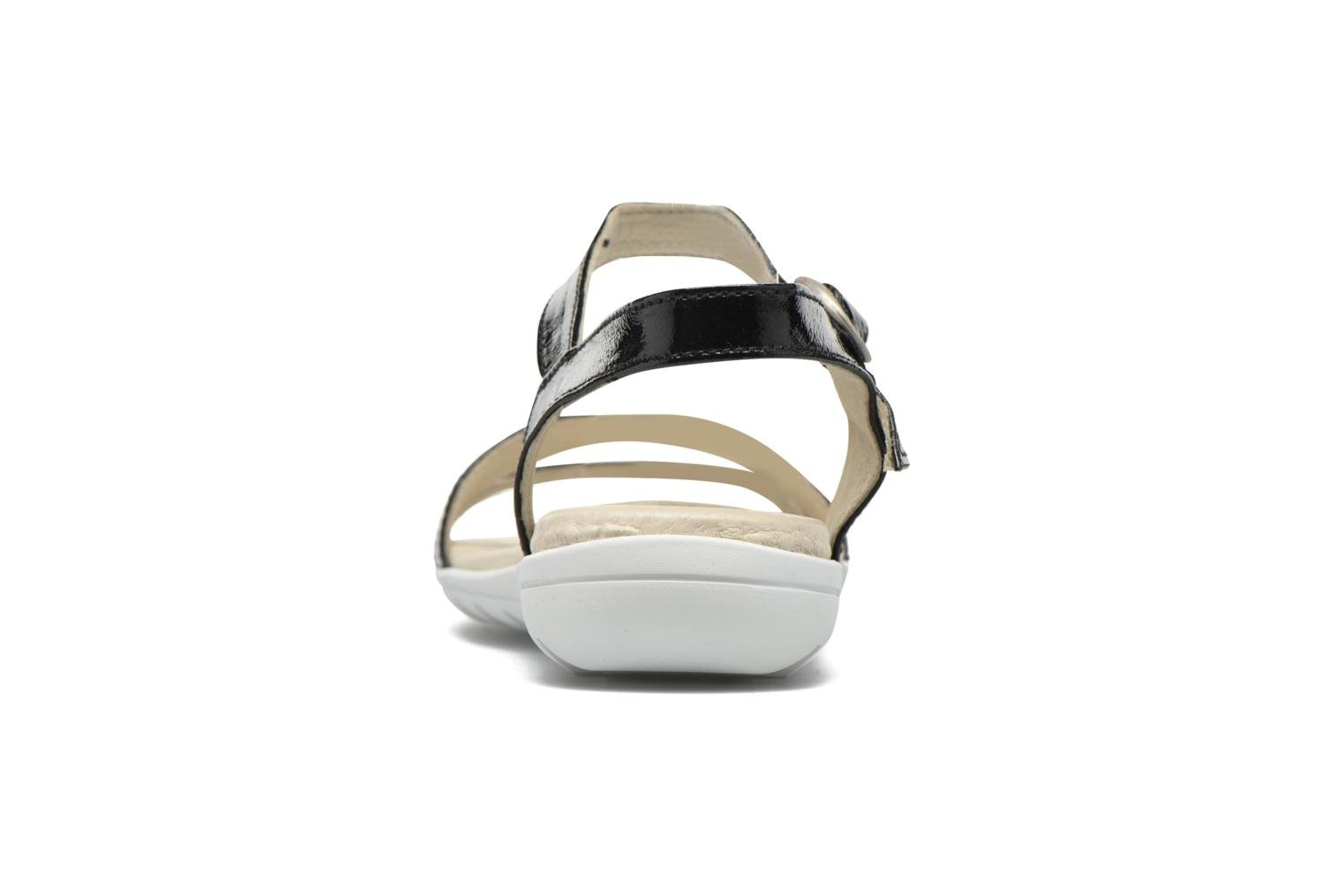 Sandals TBS Nikkia Black view from the right