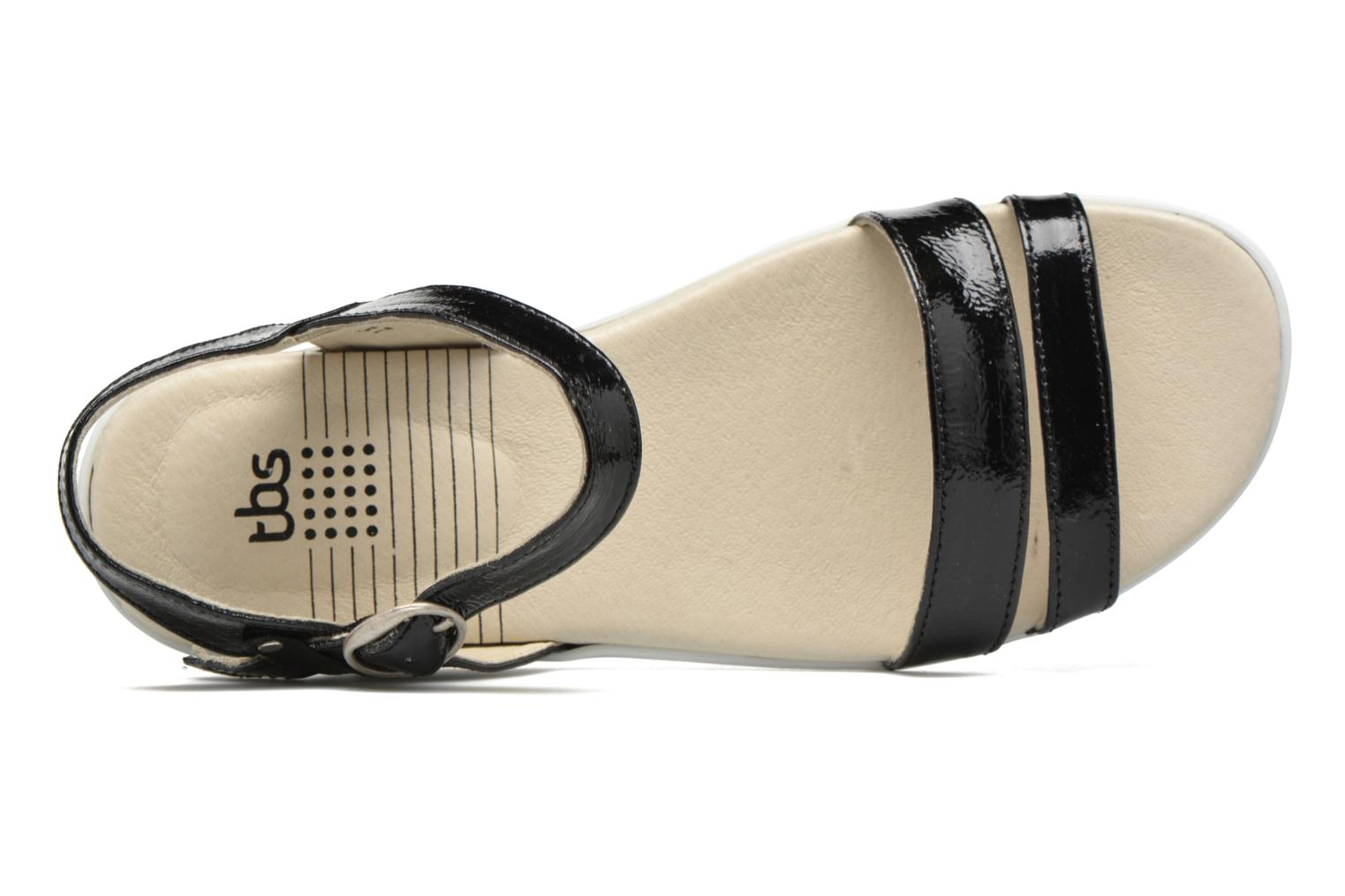 Sandals TBS Nikkia Black view from the left