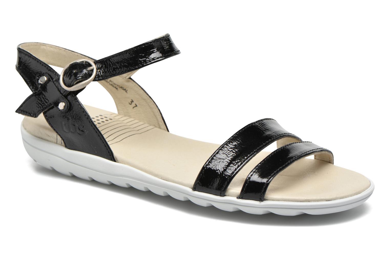 Sandals TBS Nikkia Black detailed view/ Pair view