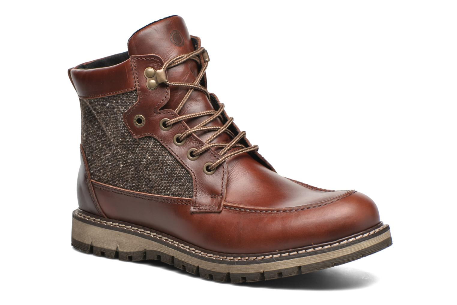 Ankle boots Mr SARENZA Newfeel Brown view from the right