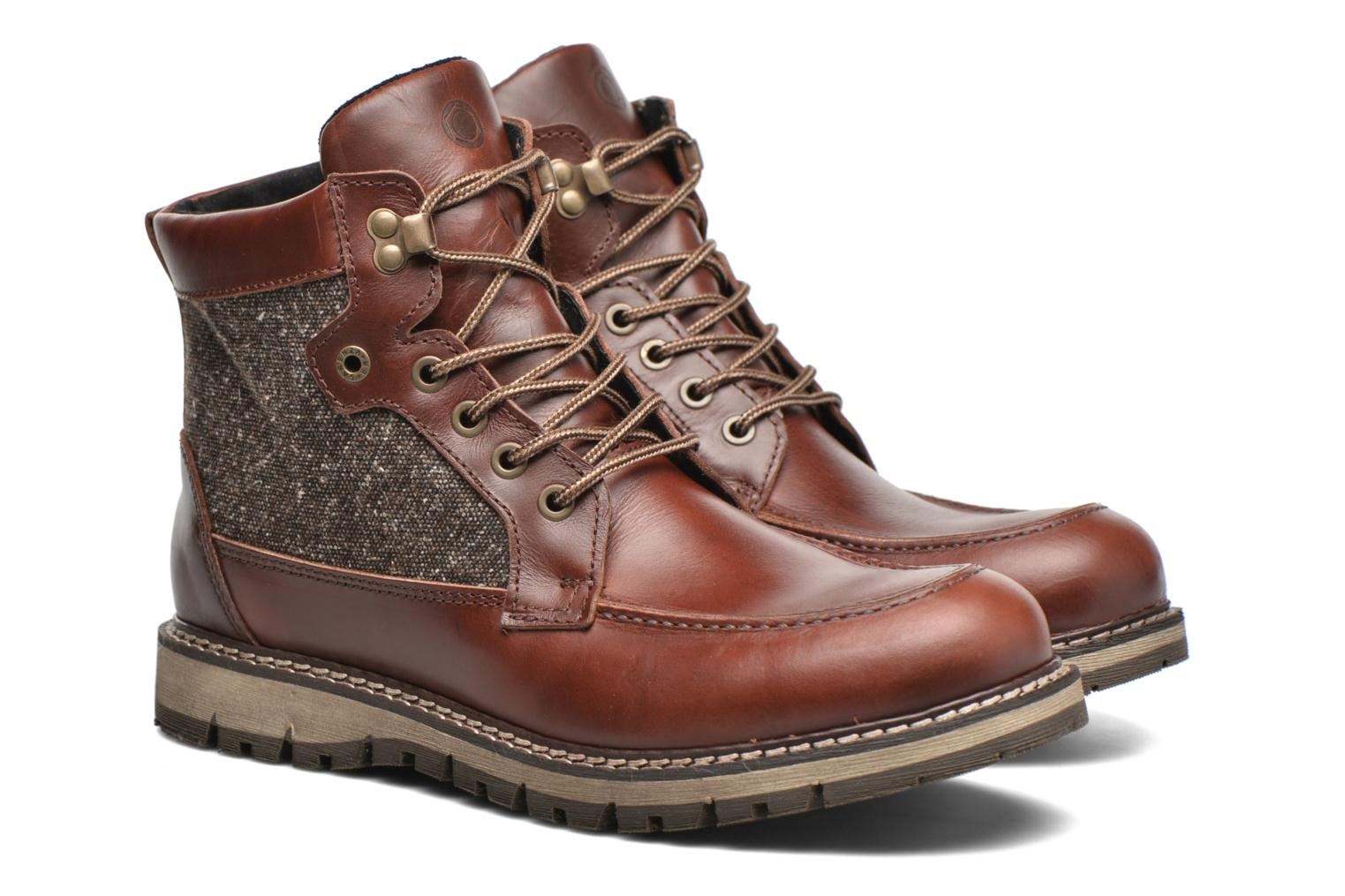 Ankle boots Mr SARENZA Newfeel Brown back view