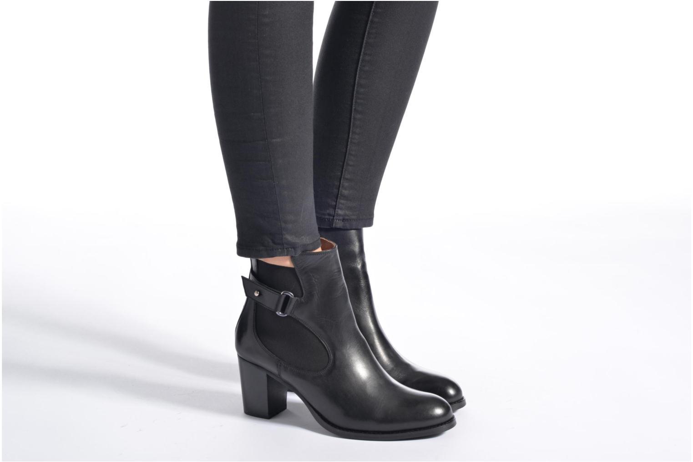 Bottines et boots Georgia Rose Villandry Noir vue bas / vue portée sac