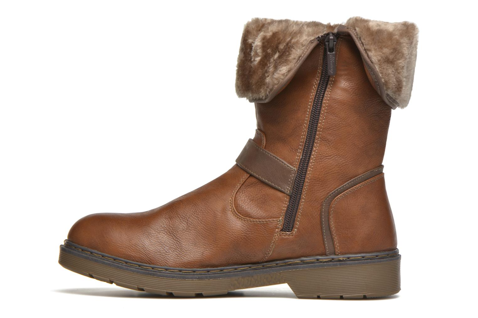 Ankle boots Mustang shoes Musdi Brown front view
