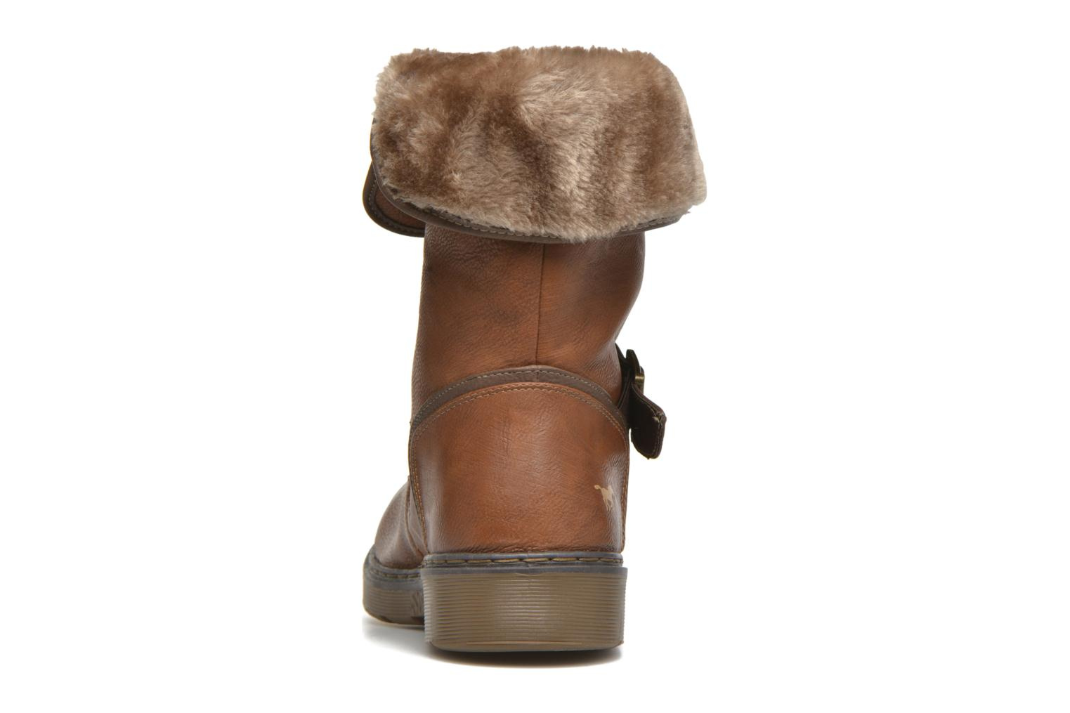 Ankle boots Mustang shoes Musdi Brown view from the right