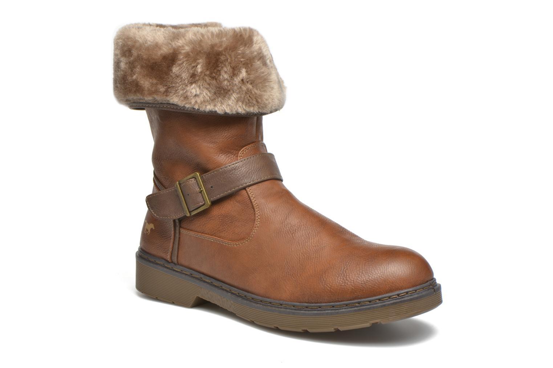 Bottines et boots Mustang shoes Musdi Marron vue détail/paire