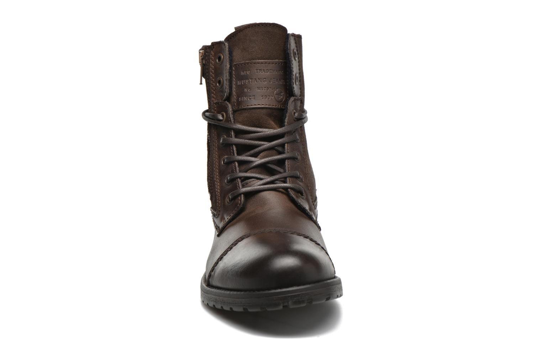 Bottines et boots Mustang shoes Mikaï Marron vue portées chaussures
