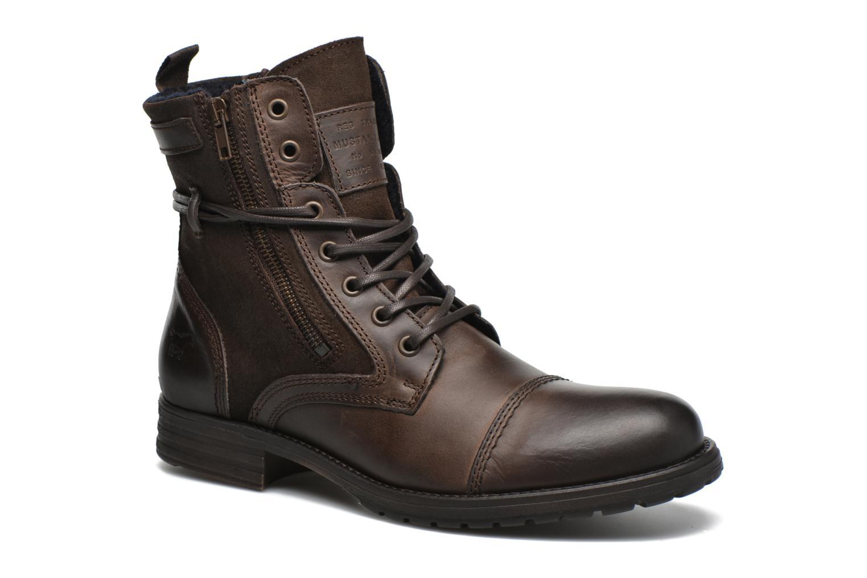 Bottines et boots Mustang shoes Mikaï Marron vue détail/paire