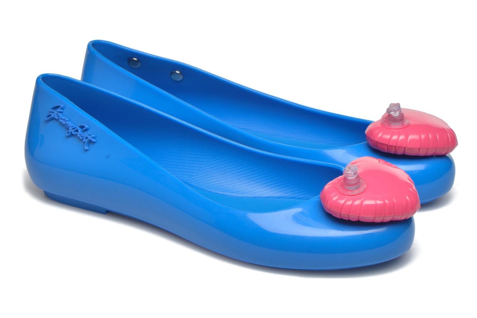 Ballet pumps Melissa Space love Blue 3/4 view