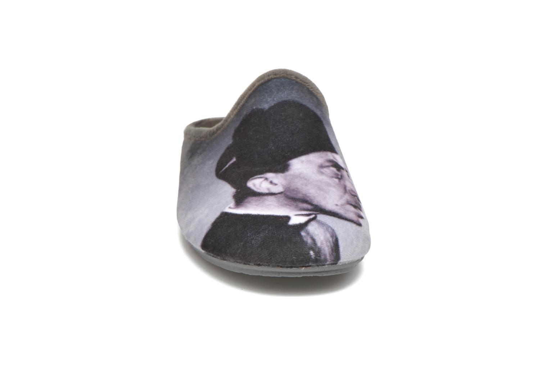 Chaussons La maison de l'espadrille Jean Gris vue portées chaussures