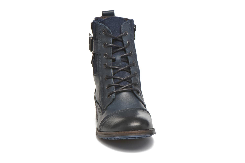 Bottines et boots Mustang shoes Muchau Bleu vue portées chaussures
