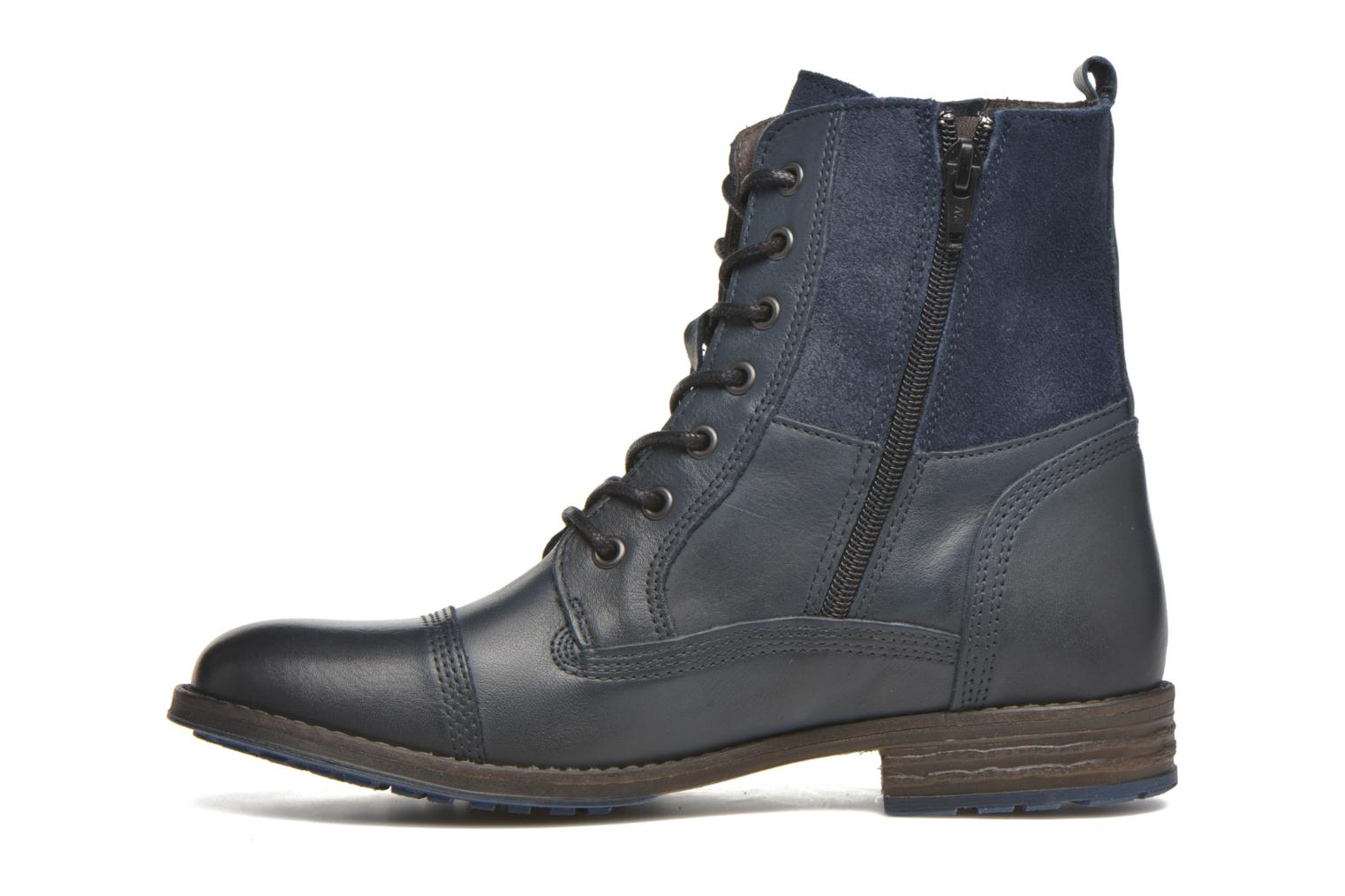 Ankle boots Mustang shoes Muchau Blue front view