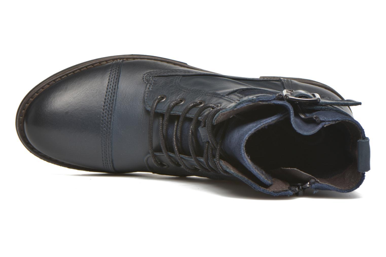 Boots en enkellaarsjes Mustang shoes Muchau Blauw links