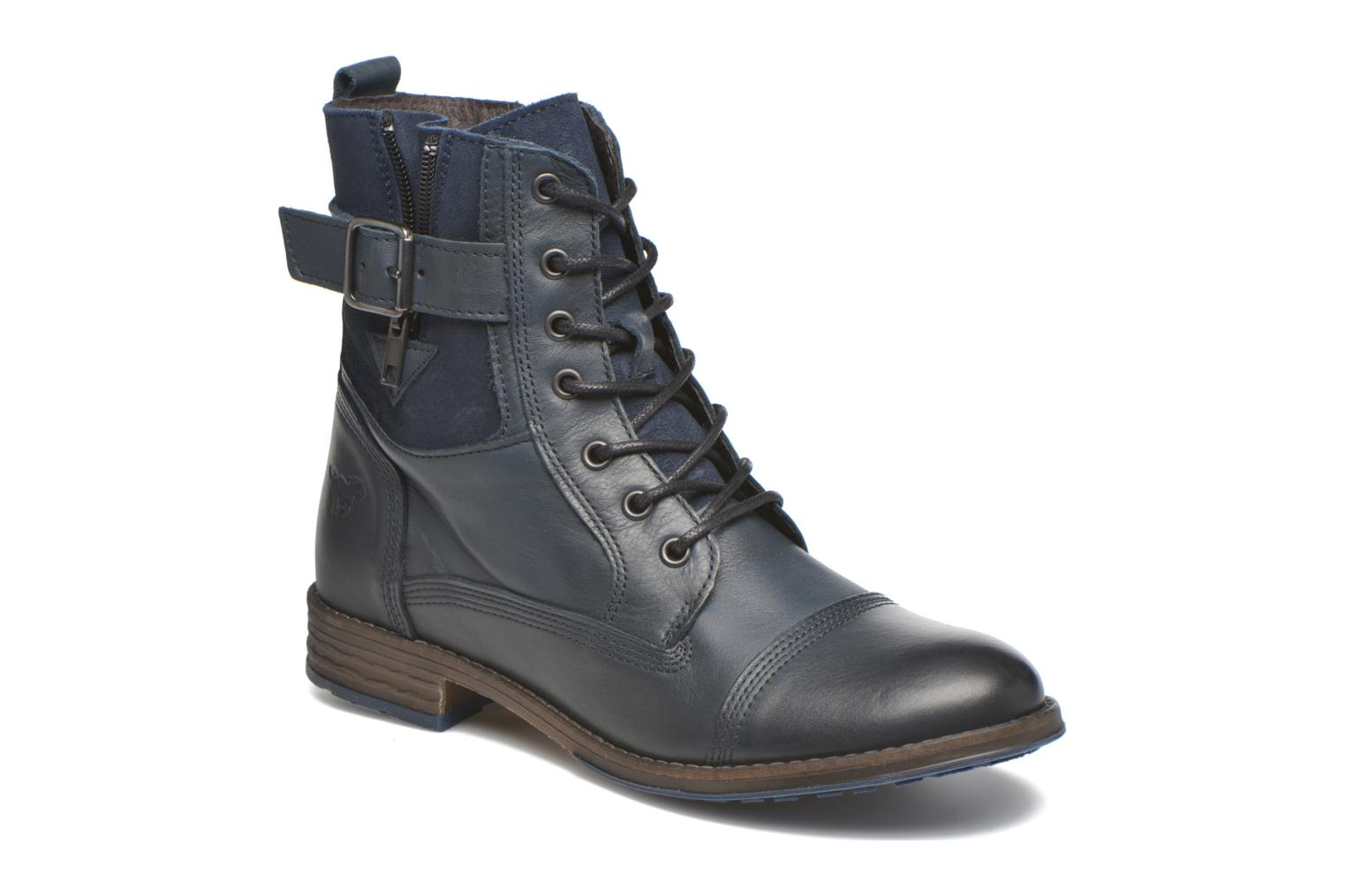 Ankle boots Mustang shoes Muchau Blue detailed view/ Pair view