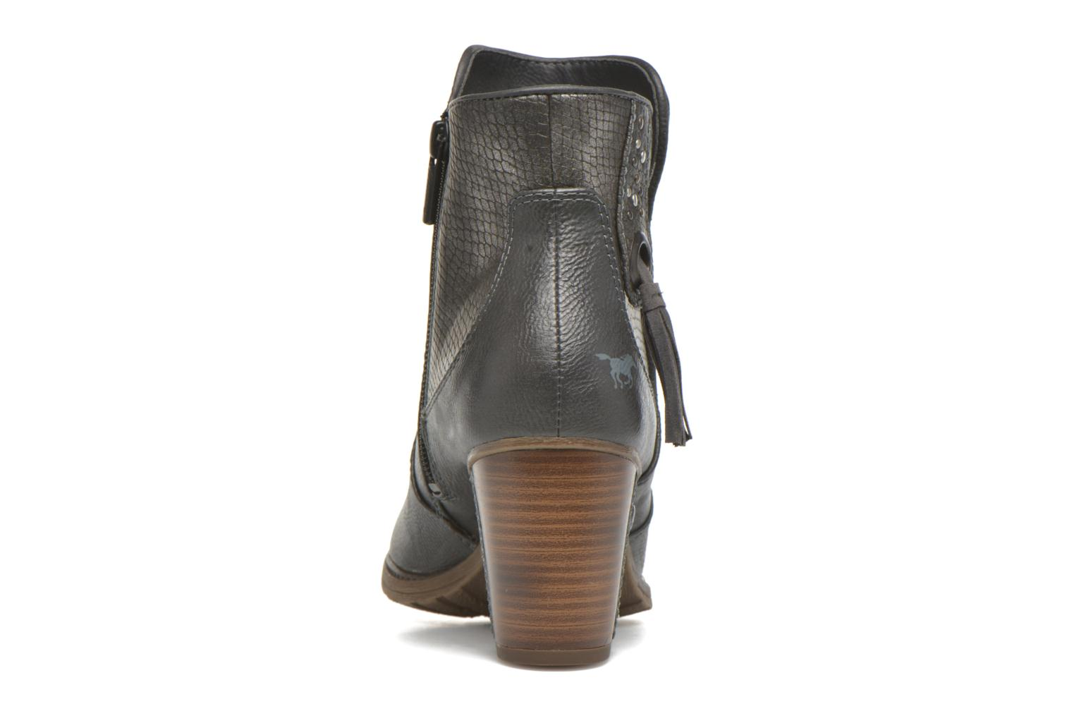 Ankle boots Mustang shoes Muphit Grey view from the right