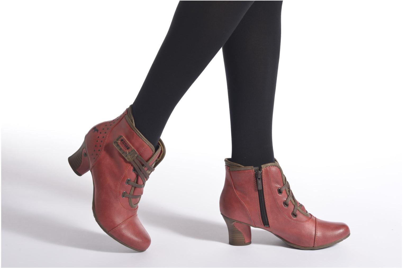 Bottines et boots Mustang shoes Mape Rouge vue bas / vue portée sac