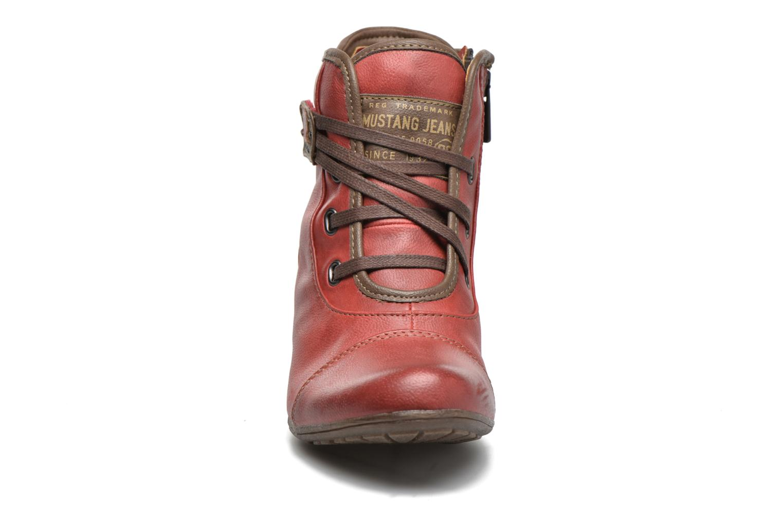 Bottines et boots Mustang shoes Mape Rouge vue portées chaussures
