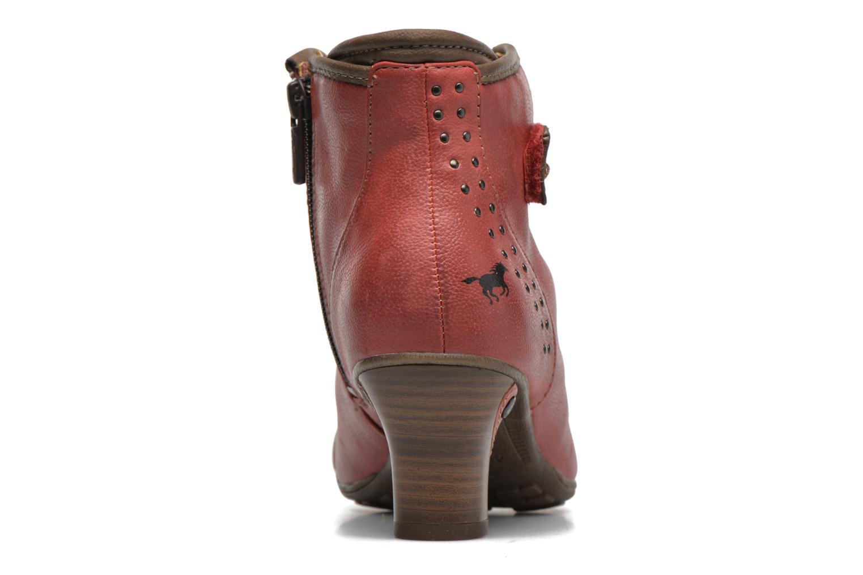 Bottines et boots Mustang shoes Mape Rouge vue droite