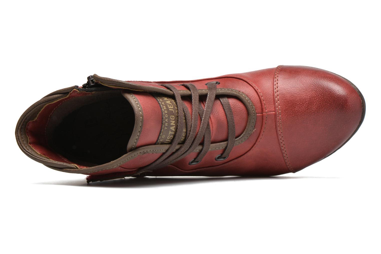 Bottines et boots Mustang shoes Mape Rouge vue gauche