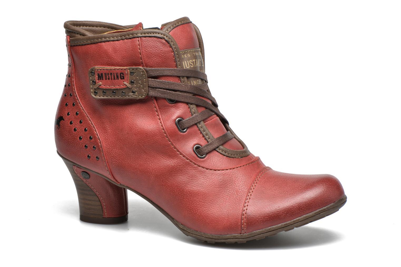 Bottines et boots Mustang shoes Mape Rouge vue détail/paire