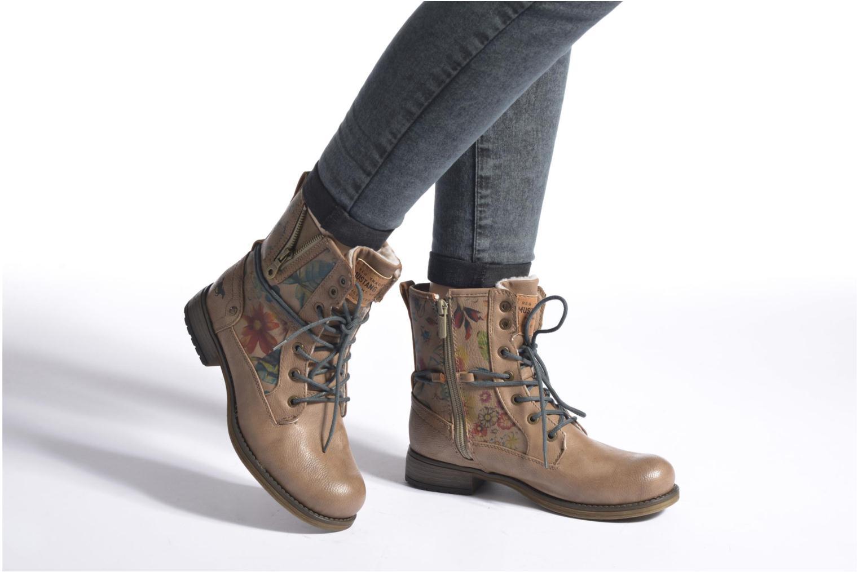 Bottines et boots Mustang shoes Manat Marron vue bas / vue portée sac