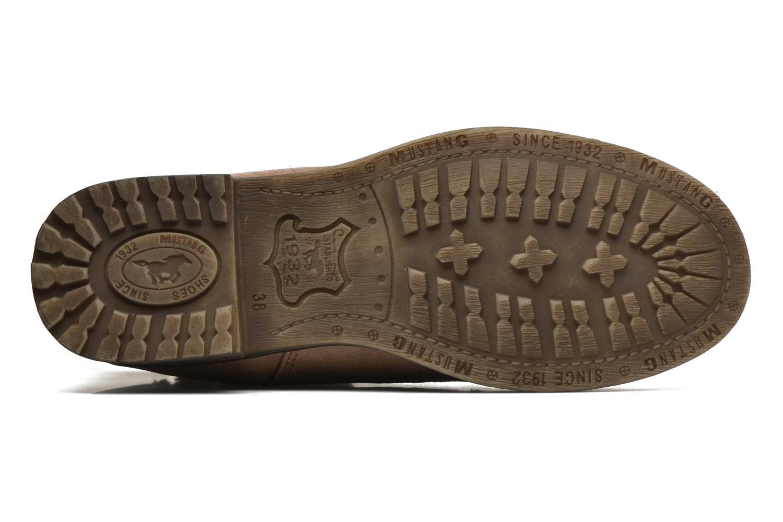 Bottines et boots Mustang shoes Manat Marron vue haut