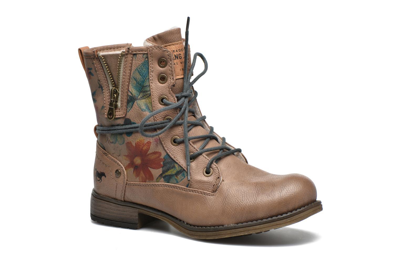 Bottines et boots Mustang shoes Manat Marron vue détail/paire