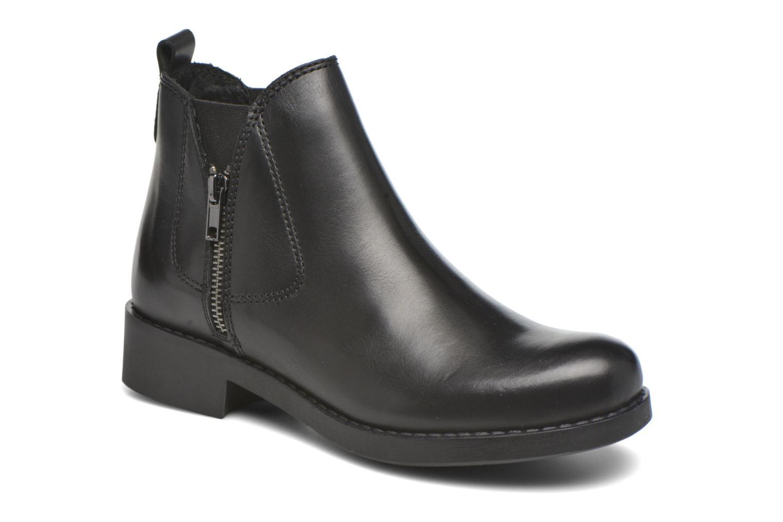 Boots en enkellaarsjes André Mika Zwart detail