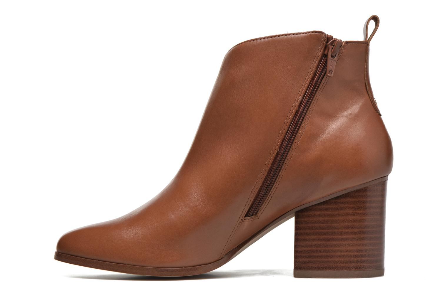 Ankle boots André Paolina Brown front view