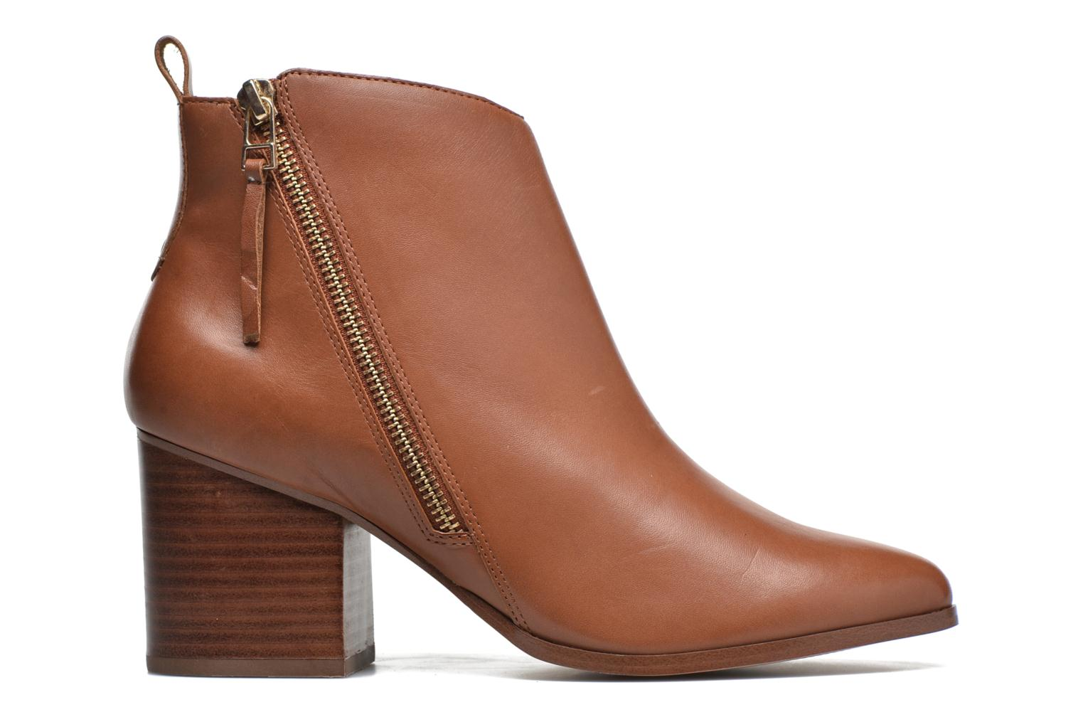 Ankle boots André Paolina Brown back view