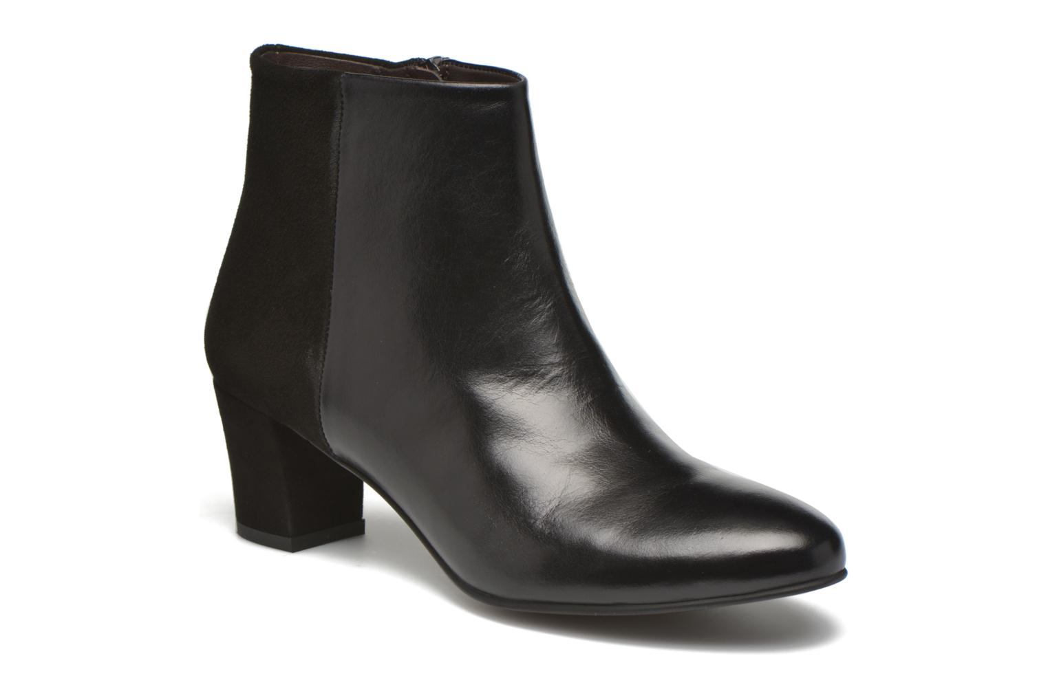 Ankle boots Perlato Paolina Black detailed view/ Pair view