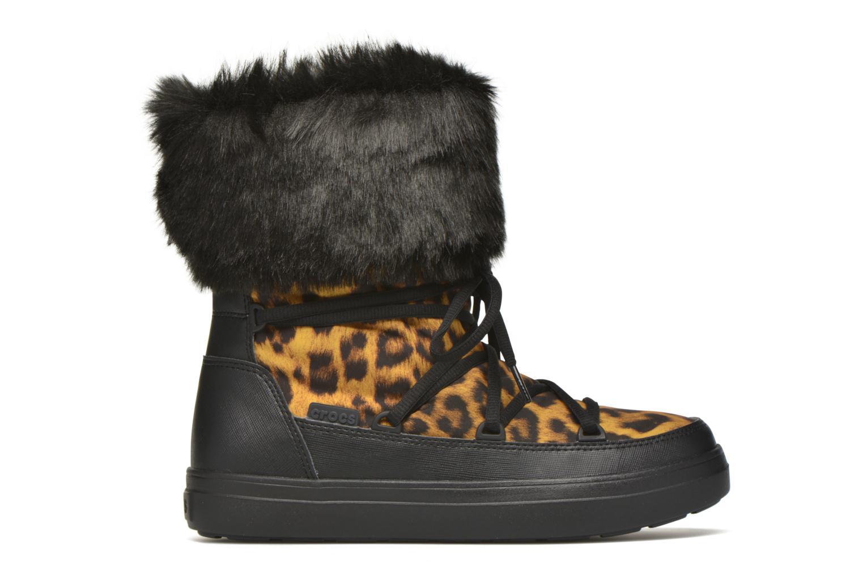 Botines  Crocs Lodgepoint Lace Boot W Negro vistra trasera