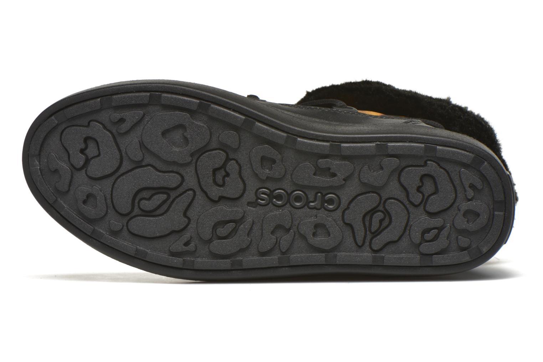 Stiefeletten & Boots Crocs Lodgepoint Lace Boot W schwarz ansicht von oben