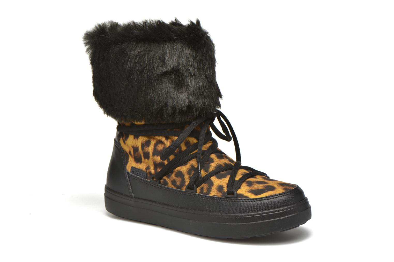 Stiefeletten & Boots Crocs Lodgepoint Lace Boot W schwarz detaillierte ansicht/modell