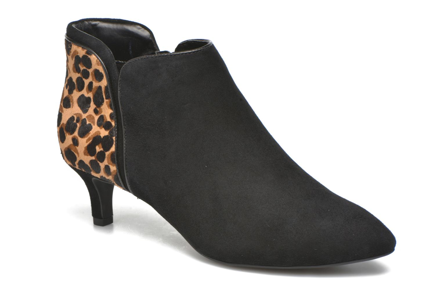 Kalila Piping Bootie Black kid suede/ocelot