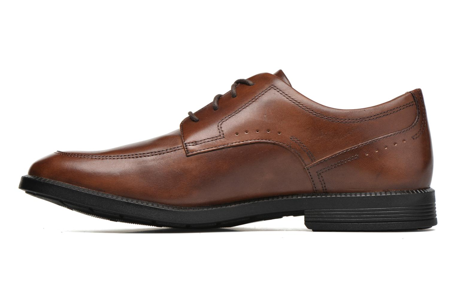 Lace-up shoes Rockport DP Modern Apron Toe Brown front view