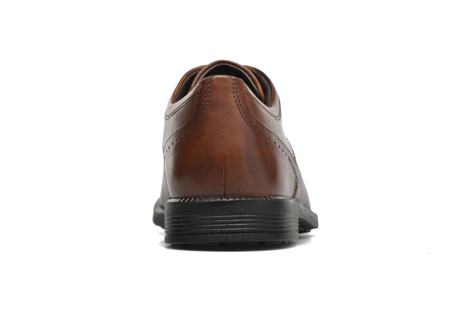 Lace-up shoes Rockport DP Modern Apron Toe Brown view from the right