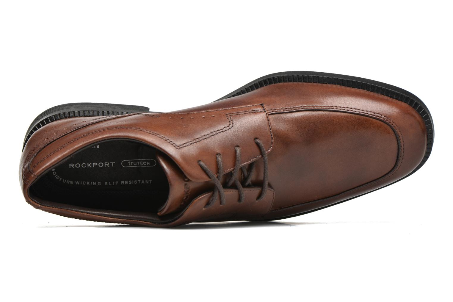 Lace-up shoes Rockport DP Modern Apron Toe Brown view from the left