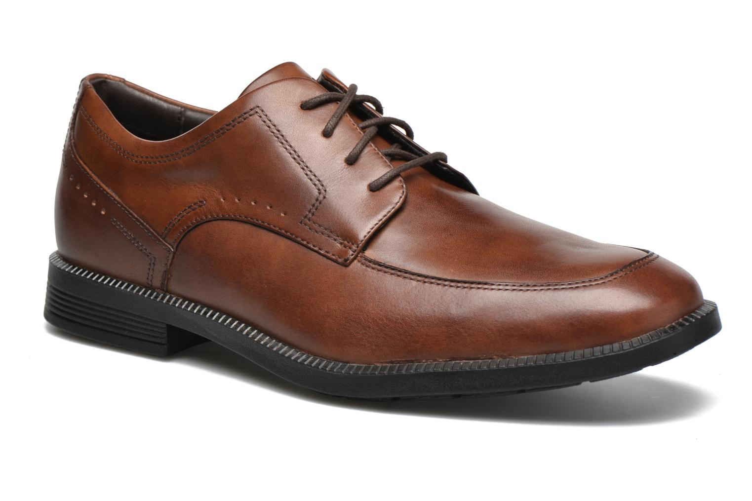 Lace-up shoes Rockport DP Modern Apron Toe Brown detailed view/ Pair view