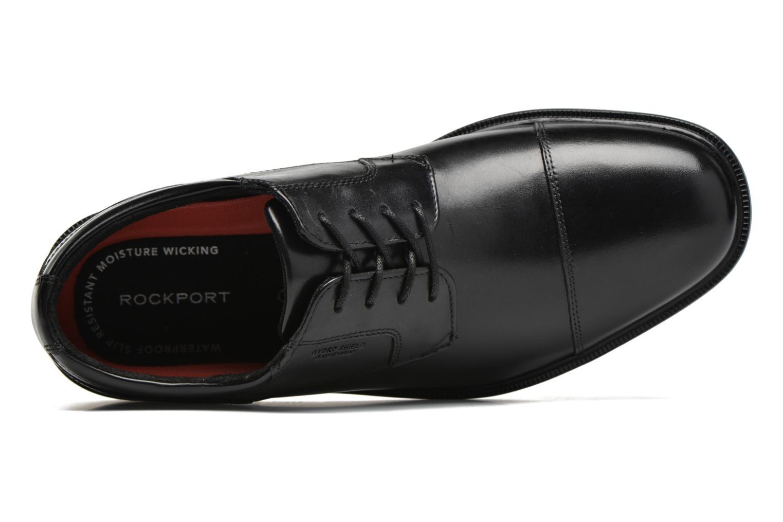 Chaussures à lacets Rockport Esntial Dtl II Cap Toe Noir vue gauche