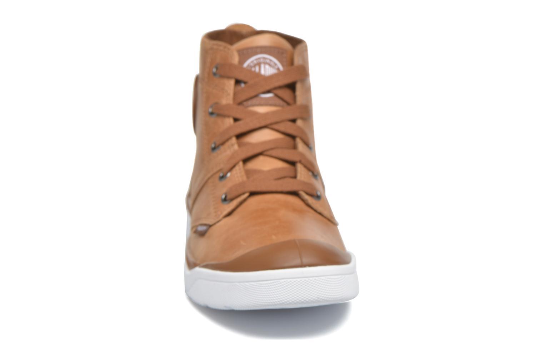 Bottines et boots Palladium Palaru HI Lea F Marron vue portées chaussures