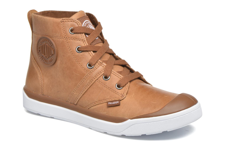 Bottines et boots Palladium Palaru HI Lea F Marron vue détail/paire
