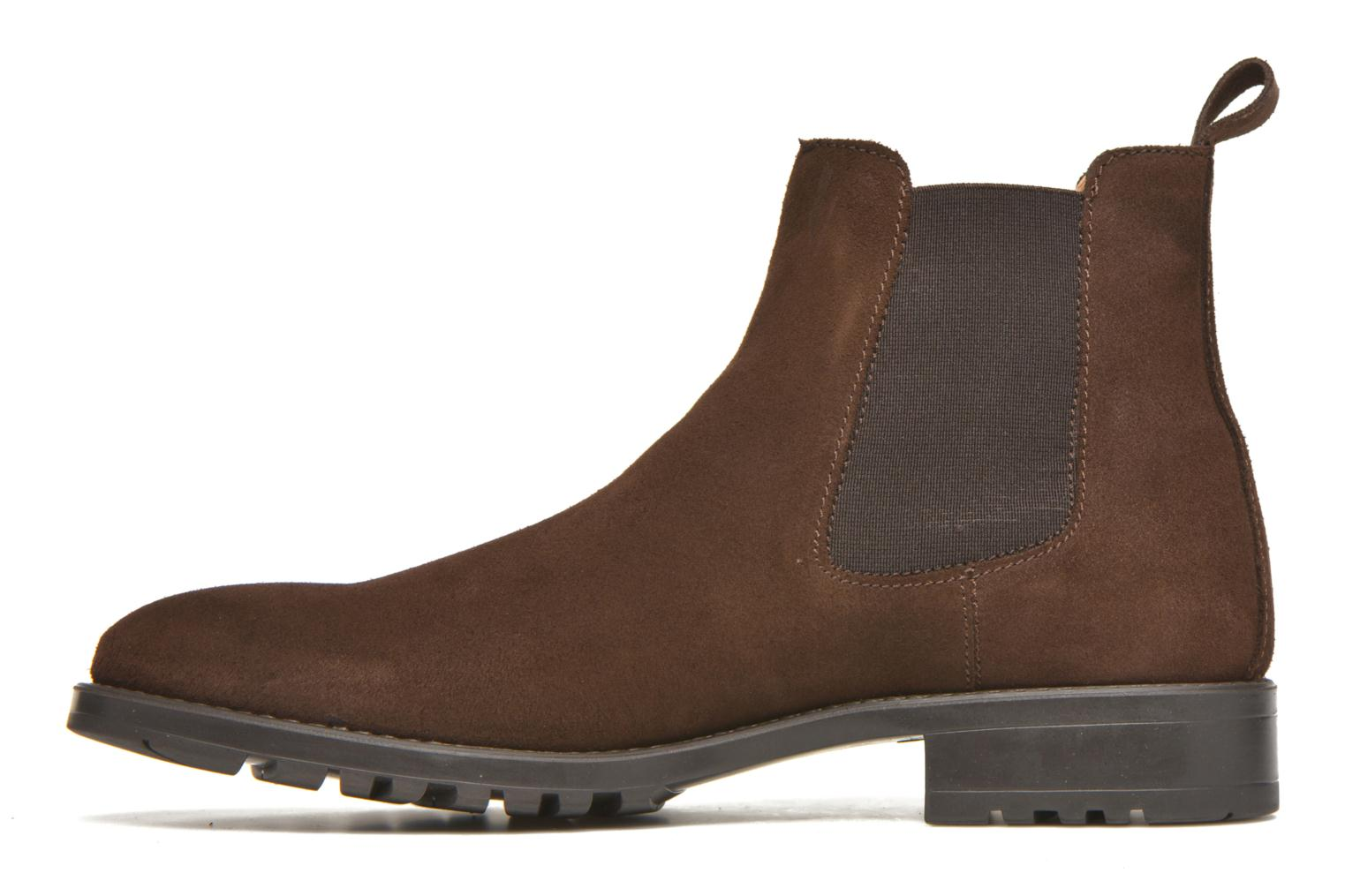Ankle boots Marvin&co Ahsford Brown front view